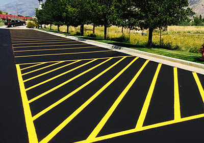 The stripe zone utah striping services for Parking lot painting equipment